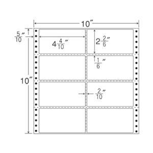 NANA/連続ラベル ナナフォーム 10×10インチ 8面 500折/MT10H