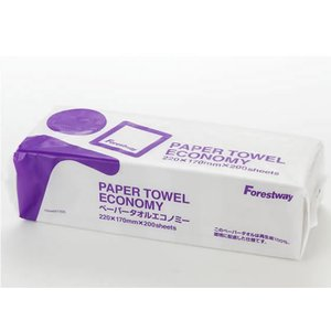 Forestway/ペーパータオル エコノミー 200枚<バラ売り> cocodecow