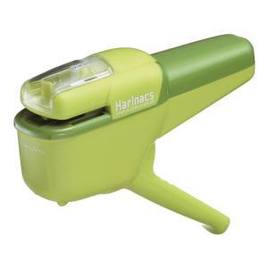 コクヨ/針なしステープラーハリナックス ハンディ10枚 緑/SLN-MSH110G|cocodecow
