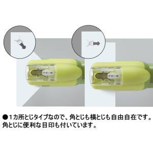 コクヨ/針なしステープラーハリナックス ハンディ10枚 緑/SLN-MSH110G|cocodecow|02