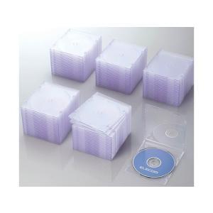 エレコム/Blu-ray  DVD CDスリムケース クリア 100枚 cocodecow