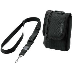 エレコム/首ひも付デジタルカメラケース 面ファスナータイプ Mサイズ ブラック|cocodecow
