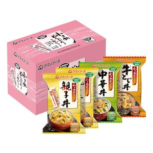 アマノフーズ/小さめどんぶり3種セット 4食 cocodecow