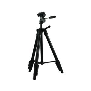 【仕様】4段式で持ち運びやすい小型三脚です。 ●色:ブラック●段数:4段●サイズ:全高1225mm、...