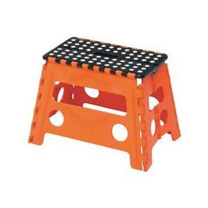 【仕様】簡単に開いて使える、簡単に閉じてしまえる便利な折りたたみ踏み台。 ●注文単位:1台●色:オレ...