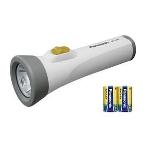 パナソニック/乾電池エボルタ付 LEDライト/BF-158BK-W|cocodecow