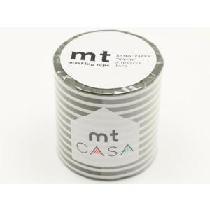 カモ井/mt CASA 50mm ボーダー・オリーブ/MTCA5110|cocodecow