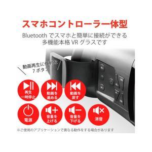 エレコム/VRゴーグル Bluetoothコントローラー一体型/VRG-BT02BK cocodecow 02