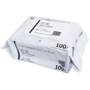 AI-WILL/除菌 ウェットティッシュ アルコールタイプ 厚手 100枚|cocodecow