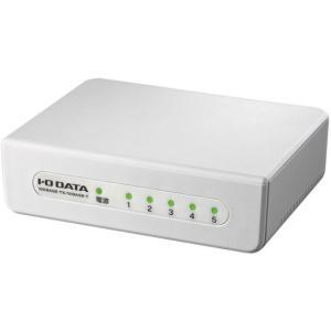 I・O DATA/5ポート レイヤー2スイッチングハブ ホワイト/ETX-ESH05WC|cocodecow