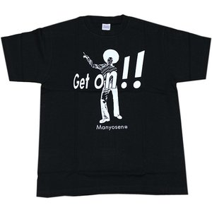 「Get On !!」 (黒) サイズ:M|cocohoreshop