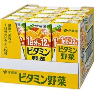 ※伊藤園 ビタミン野菜ハーフケース 200ml×12本 cocokarafine