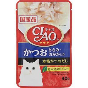 CIAOパウチ かつお ささみ・おかか入り 40g