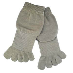 5本指ソックス メンズ レディース 靴下 ゆびのばソックス Neo EVE(イヴ) アイビーグリーン