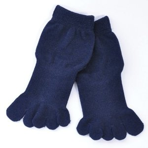 5本指ソックス メンズ レディース 靴下 ゆびのばソックス Neo EVE(イヴ) ネイビー