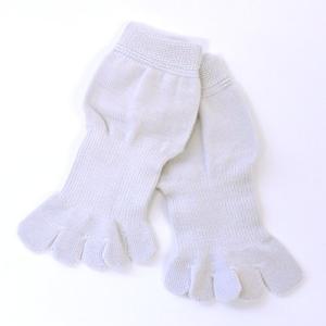 5本指ソックス メンズ レディース 靴下 ゆびのばソックス Neo EVE(イヴ) シルバーグレー