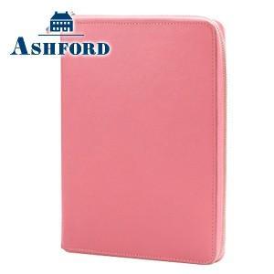 システム手帳 A5 革 アシュフォード 名入れ無料 ビバーチェ A5 15ミリ ジッパー システム手帳 ピンク×トープ No. 3079-461|cocolab