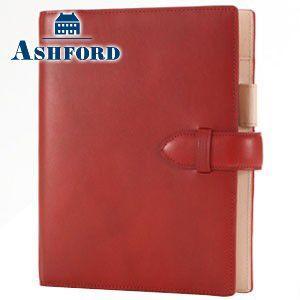 システム手帳 A5 革 アシュフォード 名入れ無料 キュリオ A5 19ミリ システム手帳 レッド 3080-044 3080|cocolab