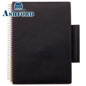 ブックカバー 革 アシュフォード ダークヌメ B6サイズ リングノートカバー ブラック 9135-011|cocolab