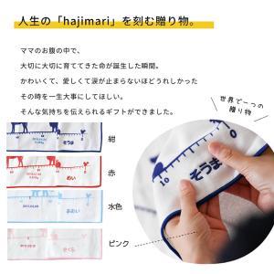 出産祝い タオル ガーゼケット 身長計 今治 お仕立て券 hajimari   名入れ  誕生日|cocoleca|03