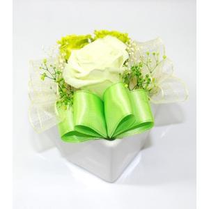 プリザーブドフラワー リボン(グリーン) cocolo5553 03