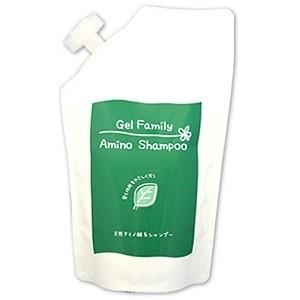 Pinatural(パイナチュラル)ゲルファミリーアミノシャンプーN 詰替用パック入り 500mlノンシリコン 天然アミノ酸シャンプー 天然アロマ アミノ酸 シリコン無添加|coconatural
