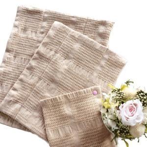 華布(hanafu)のオーガニックコットンの布ナプキン おためしセットB 【Sサイズ(スナップ付スクエア)、Mサイズ、Lサイズ(各1枚)】|coconatural