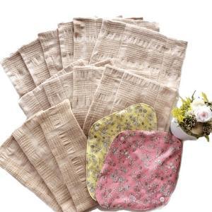 華布(hanafu)のオーガニックコットンの布ナプキン【たっぷりセット】【布ナプキンホルダー(2枚)、Sサイズ(ロング3枚)、Mサイズ(4枚)、Lサイズ(6枚)】|coconatural