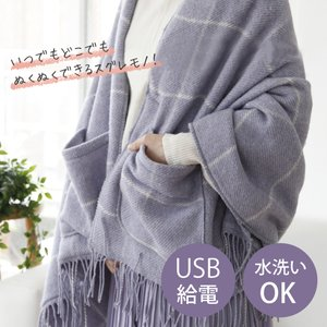 電気毛布 肩 膝掛け コイズミ USB ブランケット  2020年暖房 ブランケット 洗える USB ポケット付 ウール KDH0501U   便利雑貨のCOCONIAL(ココニアル)