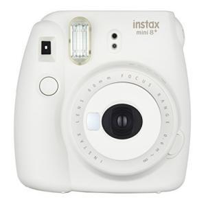 FUJIFILM インスタントカメラ チェキ instax mini8プラス 接写レンズ・純正ハンドストラップ付き バニラ INS MINI|coconina