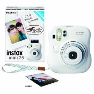 FUJIFILM インスタントカメラ チェキ instax mini 25 ホワイト INS MINI 25 WT N|coconina