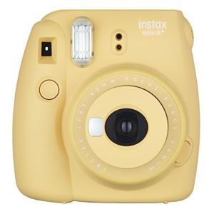 FUJIFILM インスタントカメラ チェキ instax mini8プラス 接写レンズ・純正ハンドストラップ付き ハニー INS MINI|coconina