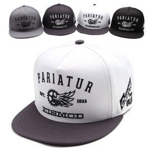 キャップ帽 スナップバックキャップ 歯車 ウィング 装飾 帽子 4色 PREMIER|coconoco