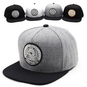 キャップ帽 スナップバックキャップ ピラミッド サークル イルミナティ 装飾 帽子 4色 PREMIER|coconoco