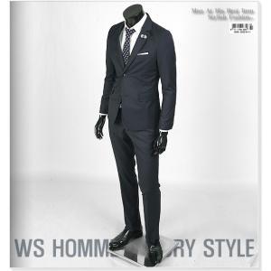 スーツ メンズ スリムスーツ シングル 2ボタン ネイビー 紺色 ソリッド 無地 jj342-2 メンズスーツ セットアップ 上下セット スーツ メンズ 正装 背広|coconoco