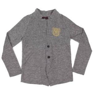 カーディガン ジャケット メンズ 2ボタン ワイネック ウォームビズ グレー 灰色 coconoco