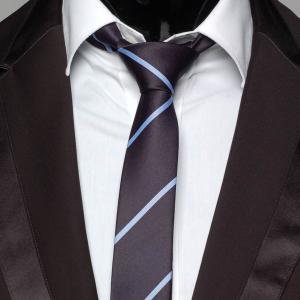 スリムネクタイ ナロータイ ストライプ柄 ネイビー ブルー 紺色 メンズ ネクタイ 大剣幅 5.5cm 送料無料|coconoco