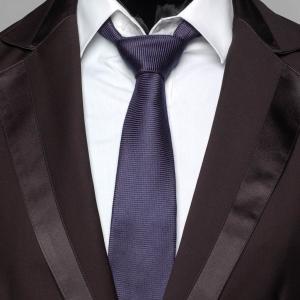 ネクタイ メンズ ソリッド 無地 メッシュ織柄  ネイビー ブルー 紺色 大剣幅 7cm ビスコース レイヨン 混紡 送料無料|coconoco