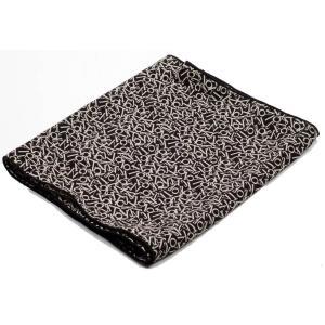 ストール メンズ ネック スカーフ 文字 アルファベット柄 ブラック色 細長スカーフ ロング スカーフ 送料無料|coconoco
