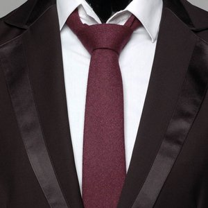 ネクタイ メンズ ソリッド ぼかし ワイン レッド色 無地 毛織タッチ ネクタイ 大剣幅7cm 送料無料|coconoco