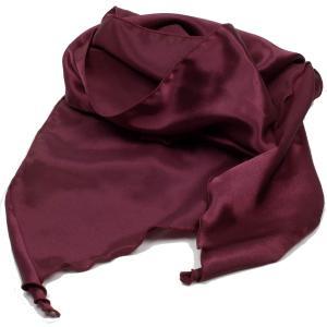 ストール メンズ ネック スカーフ ワインレッド ソリッド 無地柄 赤色 斜めカット シルクタッチ 細長スカーフ ロング スカーフ 送料無料|coconoco