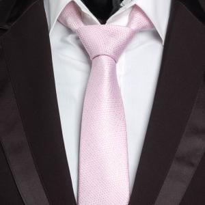 ネクタイ メンズ ピンク メッシュ生地 ラメ入り 銀糸 飾り ナロータイ スリムネクタイ 大剣幅6.5cm 送料無料|coconoco