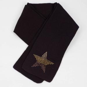マフラー 冬 スター 星 グラデーション ビジュー ラインストーン飾り 黒 フリンジなし スタンダード シンプル アクリル素材 coconoco