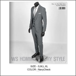 メンズ スーツ スリムスーツ グレー シャドーチェック シングル 2ボタン ベーシック スリムライン ノーマルラペル ノンタッグ・ストレート bts102|coconoco