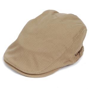 ハンチング帽 メンズ コットン ヘリンボーン ハンチングキャップ ダーク ベージュ ハンチング帽子 フリーサイズ (58cm) 調整可能 ハンチングの定番|coconoco