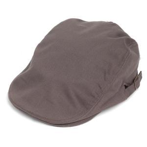 ハンチング帽 メンズ コットン ヘリンボーン ハンチングキャップ グレー 灰色 ハンチング帽子 フリーサイズ (58cm) 調整可能 ハンチングの定番|coconoco