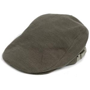 ハンチング帽 メンズ ジャガードカラー ハンチングキャップ オリーブ 色 ハンチング帽子 フリーサイズ (58cm) 調整可能 ハンチングの定番 内側はチェック柄|coconoco