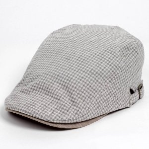 ハンチング メンズ レディース グレー サマー ハウンドトゥース マイクロ千鳥 帽子 58cm サイ...