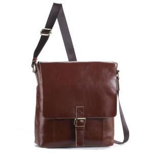 ショルダーバッグ メンズ 縦型 ショルダーバッグ ビジネス メンズバック 牛革 革 本革 レザー 男性 紳士 鞄 HAMILTON 茶 ブラウン|coconoco
