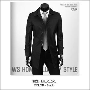 ブラック シングル ボタン隠し仕様 コート、トレンチコート、シンプルなシルエット、おすすめ! jj251|coconoco